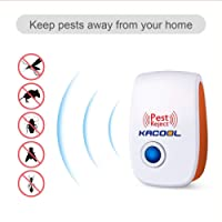 KACOOL Electronic Non-Toxic Humans and Pet Safe Ultrasonic Pest Repellent