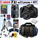 Canon EOS Rebel T1i 15.1 MP CMOS Digital SLR Camera with EF-S 18-55mm f/3.5-5.6 IS Lens & EF 75-300mm f/4-5.6 III Telephoto Zoom Lens + 8GB Deluxe Accessory Kit