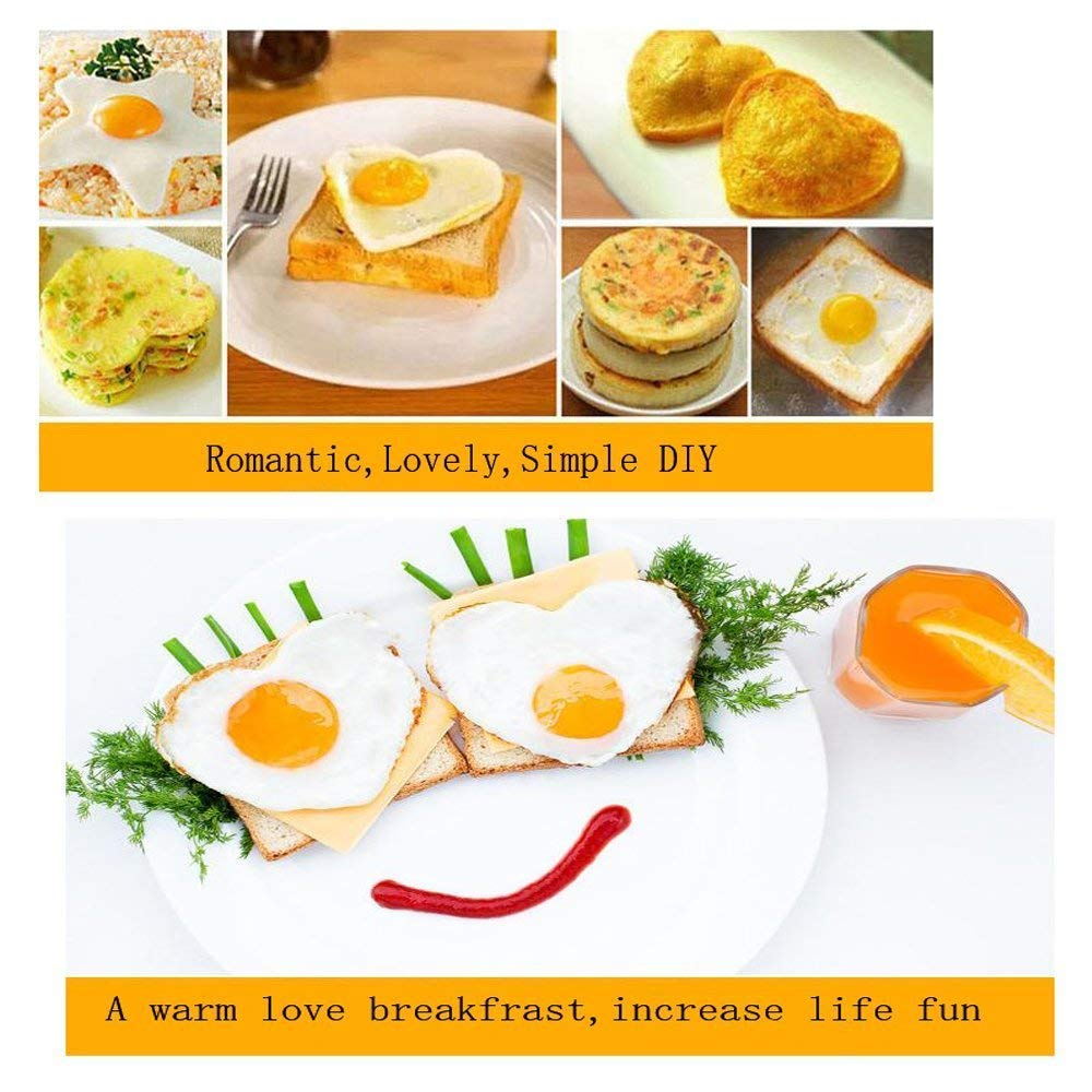 Magik 5 Pcs Fried Egg Non Stick Stainless Steel Pancake Ring Mold Cooking Kitchen Tools by Magik (Image #8)