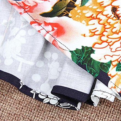 Kingko Vestito Altalena Classe Sera 1950 Partito Sottile Delle Di Bellezza Stile Donne Vintage Di Casuale Audrey Hepburn Adattarsi Maniche Fiore 7xrqBH67w