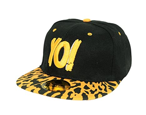 Krystle Yo Black Yellow Hip Hop Snapback 3D Kids Cap  Amazon.in ... 798d660da6c7