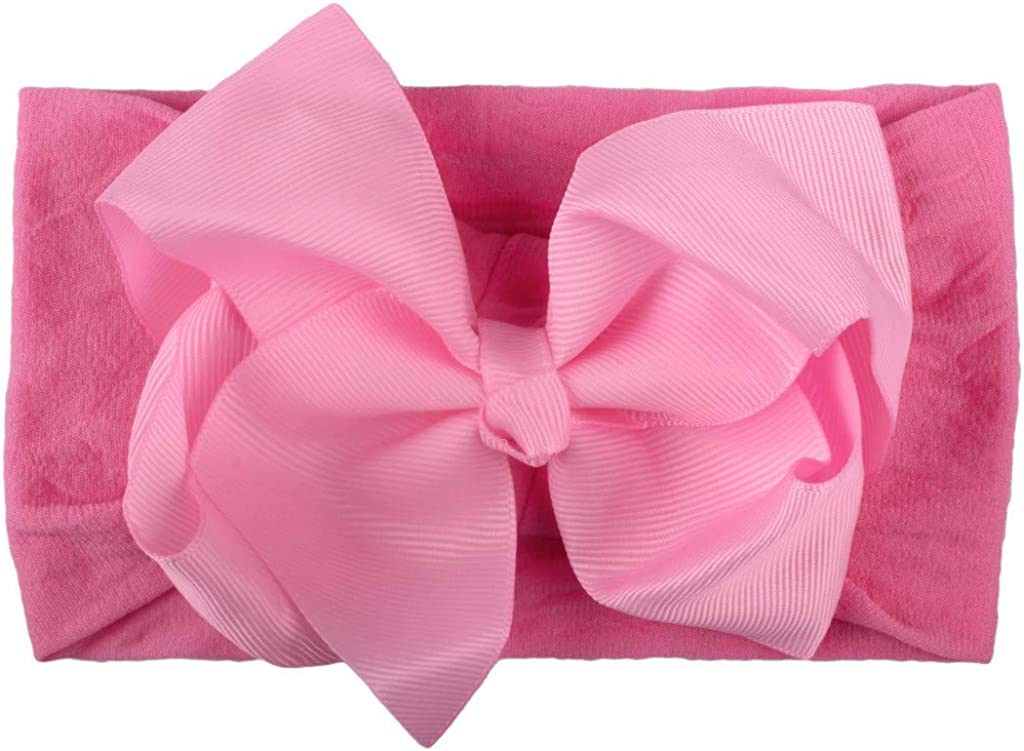 Baby Girls Soft Cotton Headbands Hairband Headwrap Bow Accessories Solid Color Bow Turban Hair Hoops for Toddlers Babies Kids Gift Set