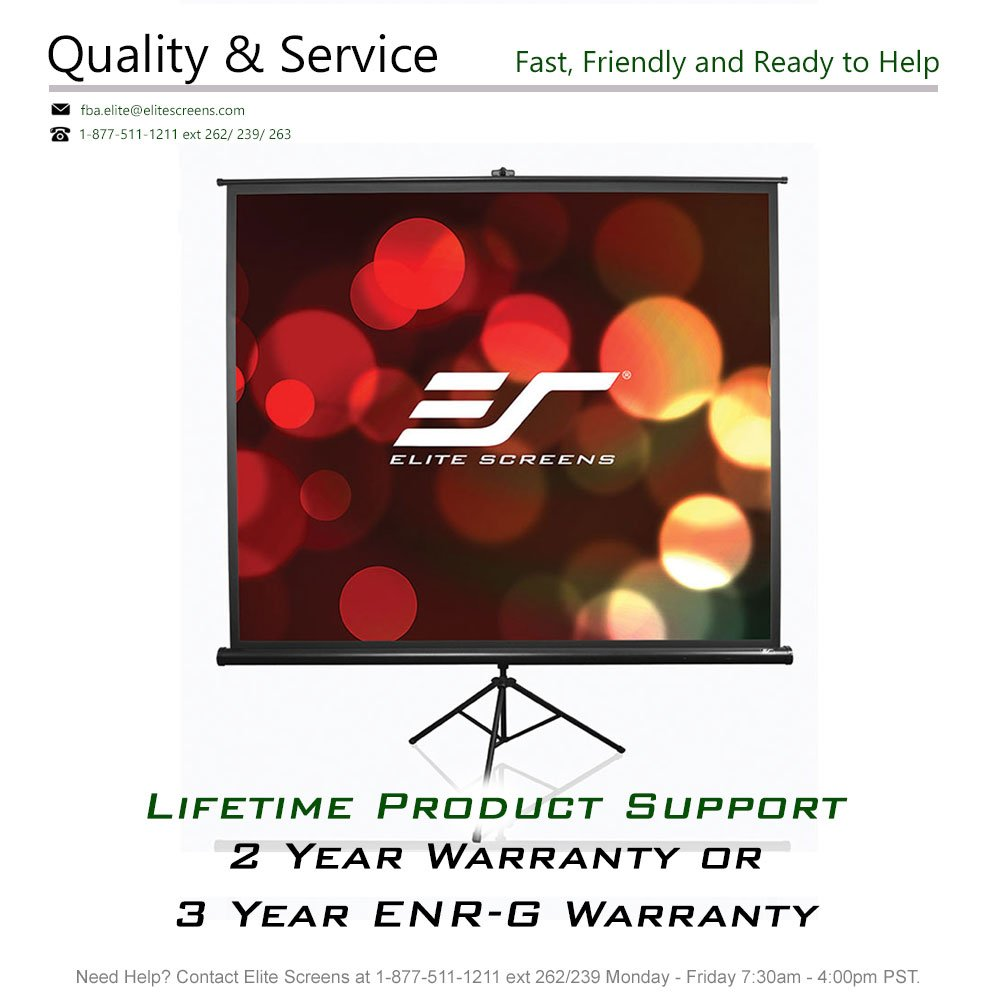 Elite Screens Tripod Series, 50-INCH 1:1, Adjustable Multi Aspect Ratio Portable Indoor Outdoor Projector Screen, 8K/4K Ultra HD 3D Ready, 2-YEAR WARRANTY, T50UWS1 by Elite Screens (Image #6)