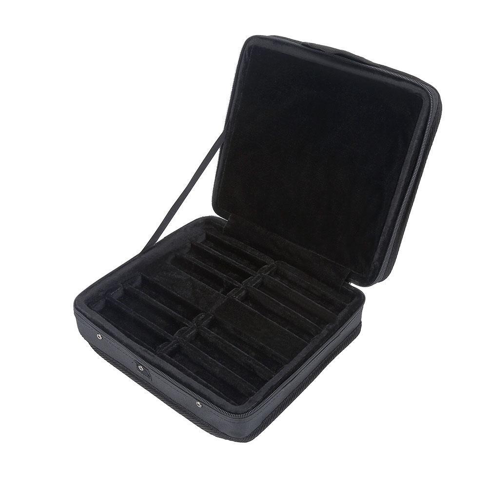 Cassa armonica in nylon, 10fori armonica box da trasporto con cerniera compatibile WITH12PCS Dilwe Dilwe12agbsp5nk