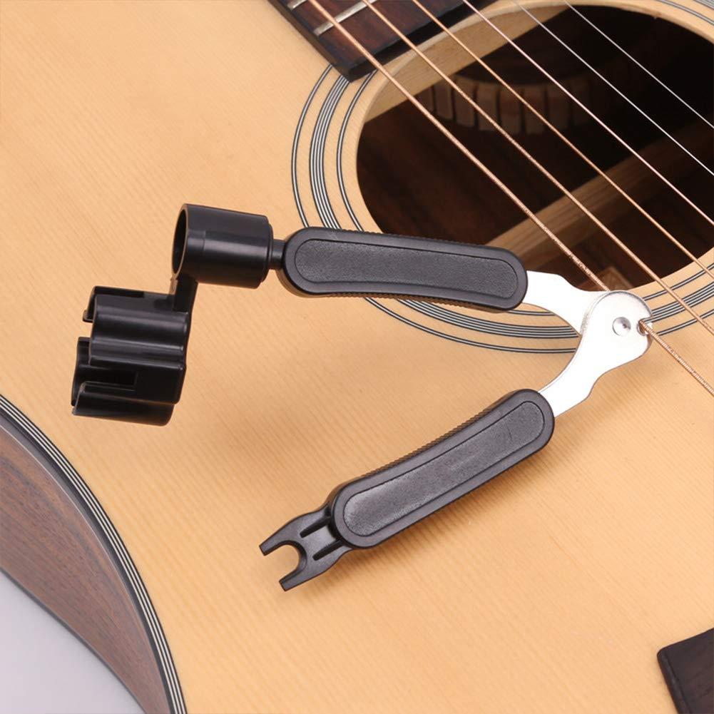 Guitar Tuning Pegs Set,6 Pieces Guitar Machine Heads Knobs Guitar String Tuning Pegs Machine for Electric or Acoustic Guitar,Including Strap Button Locks and Guitar String Winder