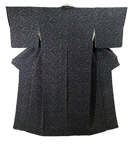 リサイクル 着物 小紋 松葉や菊 正絹 袷 裄64cm 身丈154cm