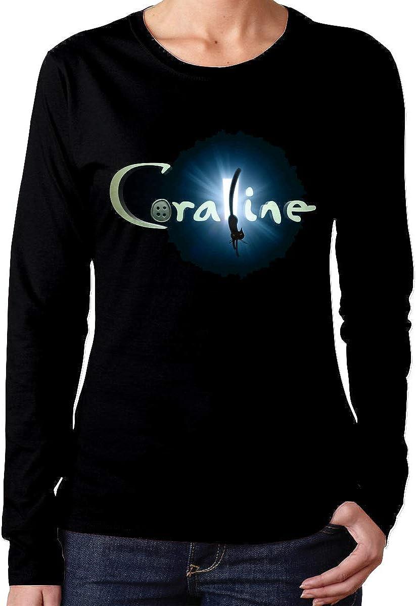 Heyuchuan Coraline Logo Women S Long Sleeve T Shirts At Amazon Women S Clothing Store
