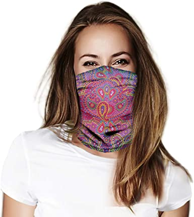 Face Covering Bandanas Headband for Women Neck Gaiter Balaclavas Headwear  for Dust Sun Wind, Magic Scarf at Amazon Women's Clothing store