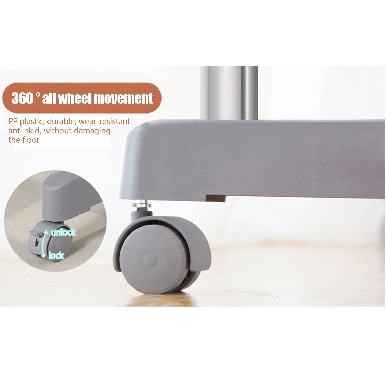 gris logei/® Perchero de ropa perchero enrollable extensibles estante perchero armario telesc/ópica plegable ruedas soporte Secadora