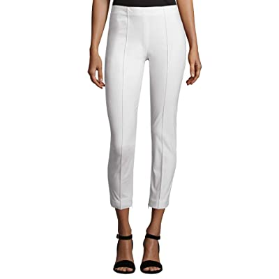 Theory Womens Alettah Approach Pants (White, 8): Clothing