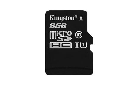 Kingston SDC10G2/8GBSP - Tarjeta microSD de 8GB (Clase 10 UHS-I 45MB/s) Tarjeta Sola