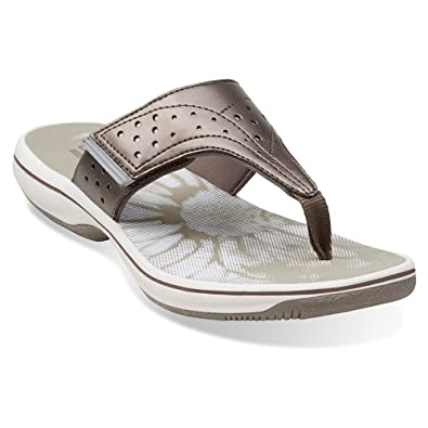 Clarks Women's Brinkley Star Sandals, Pewter 08157, ...