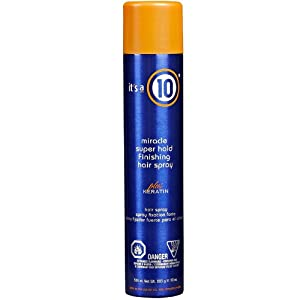 It's a 10 Haircare Miracle Super Hold Finishing Spray Plus Keratin, 10 oz.