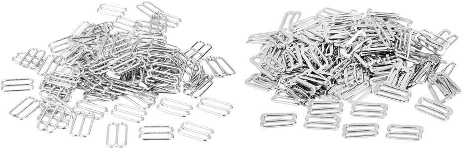 MagiDeal Cinghie di Regolazione Reggiseno Ganci per Reggiseno in Metallo 200 Pezzi