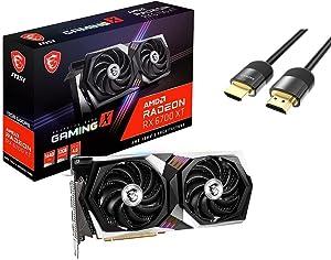 MSI Radeon RX 6700 XT Gaming X Graphics Card 12GB 192-Bit GDDR6 PCIe 4.0 x16 HDCP Ready Twin Frozr 8 DirectX 12 Ultimate 1x HDMI 2.1 3X DisplayPort 1.4 w/ Mytrix HDMI 2.1 Cable(4k@120Hz/8K@60Hz)