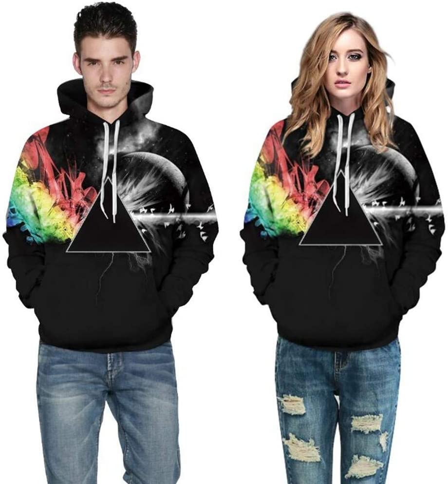 Qinddoo Abstract Prism Hoodie 3D All Over Print Geometry Unisex Man Sweatshirt Plus Size 3XL Men Tracksuit Pullovers Outwear Top