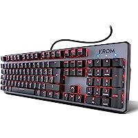 Krom Teclado Gaming Kernel -NXKROMKRNL - Teclado mecanico numerico, iluminacion LED RGB, 9 Efectos iluminacion…