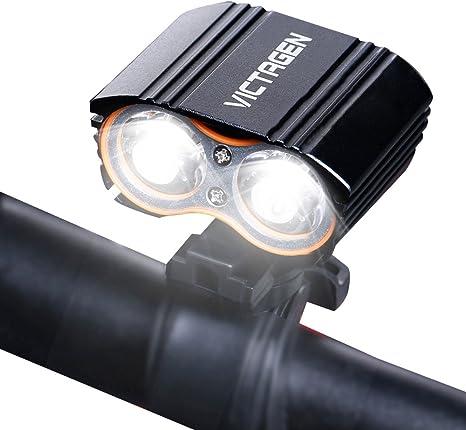 victagen Bike linterna frontal, Super luminosa Bicycle Light ...