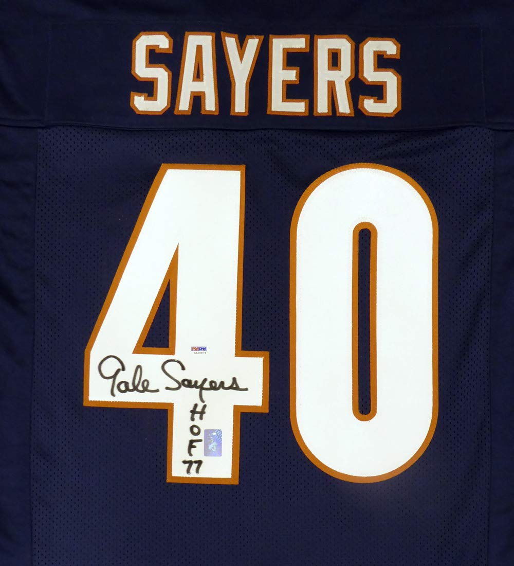 c50b5b39 Chicago Bears Gale Sayers Autographed Blue Jersey
