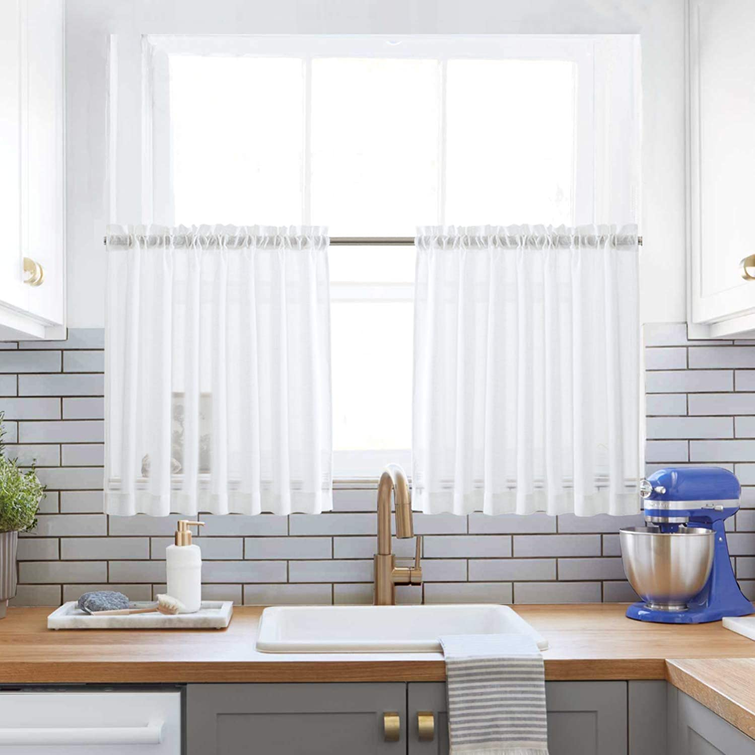 Sheer curtains for kitchen window
