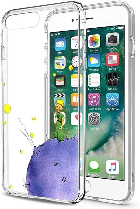 Yoedge Funda iPhone 8, Ultra Slim Cárcasa Silicona Transparente con Dibujos Animados Diseño Patrón [El Principito] Resistente Case Cover para Apple iPhone 7/8 / 9 / SE (2020) (4,7 Pulgadas) (Púrpura): Amazon.es: Electrónica