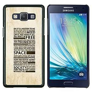 YiPhone /// Prima de resorte delgada de la cubierta del caso de Shell Armor - Libertad de la Sociedad de la tipografía - Samsung Galaxy A5 A5000