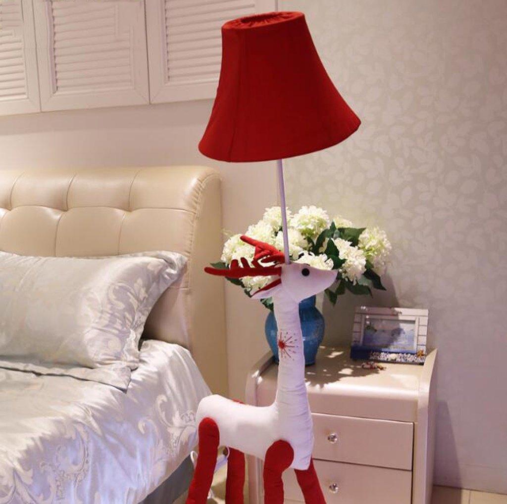 A 漫画の布の光の子供の創造的な家の装飾の動物のイメージフロアランプの鹿 ( 色 : 赤 ) B077HS2Q1Y 11593 赤 赤