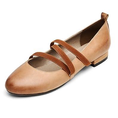 Chaussure Q Plate Cuir En Ballerines Femme vonton Sandale Mary rthQsdC