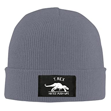 Cool Beanie Funny T Rex Hates Push-Ups Humor Beanie Hat at Amazon Men s  Clothing store  359b6aa3104