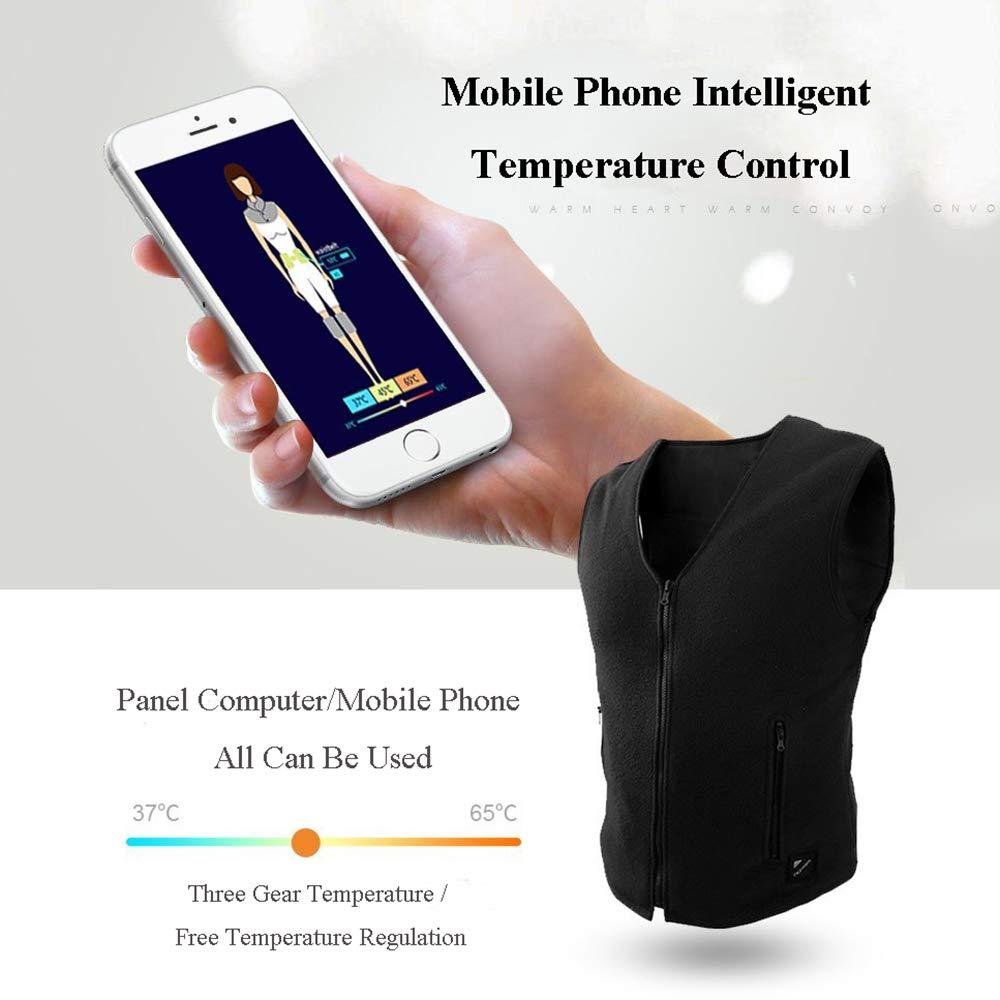 Gilet Gilet Gilet Riscaldato Smart USB, Controllo Intelligente per Abbigliamento Invernale - per Viaggi All'aperto Campeggio Bici Sci (Nero),Men-MB07K9L629HWoman-2XL | Prima il cliente  | Delicato  | Acquista  | Forte calore e resistenza all'abrasione  83e8b2