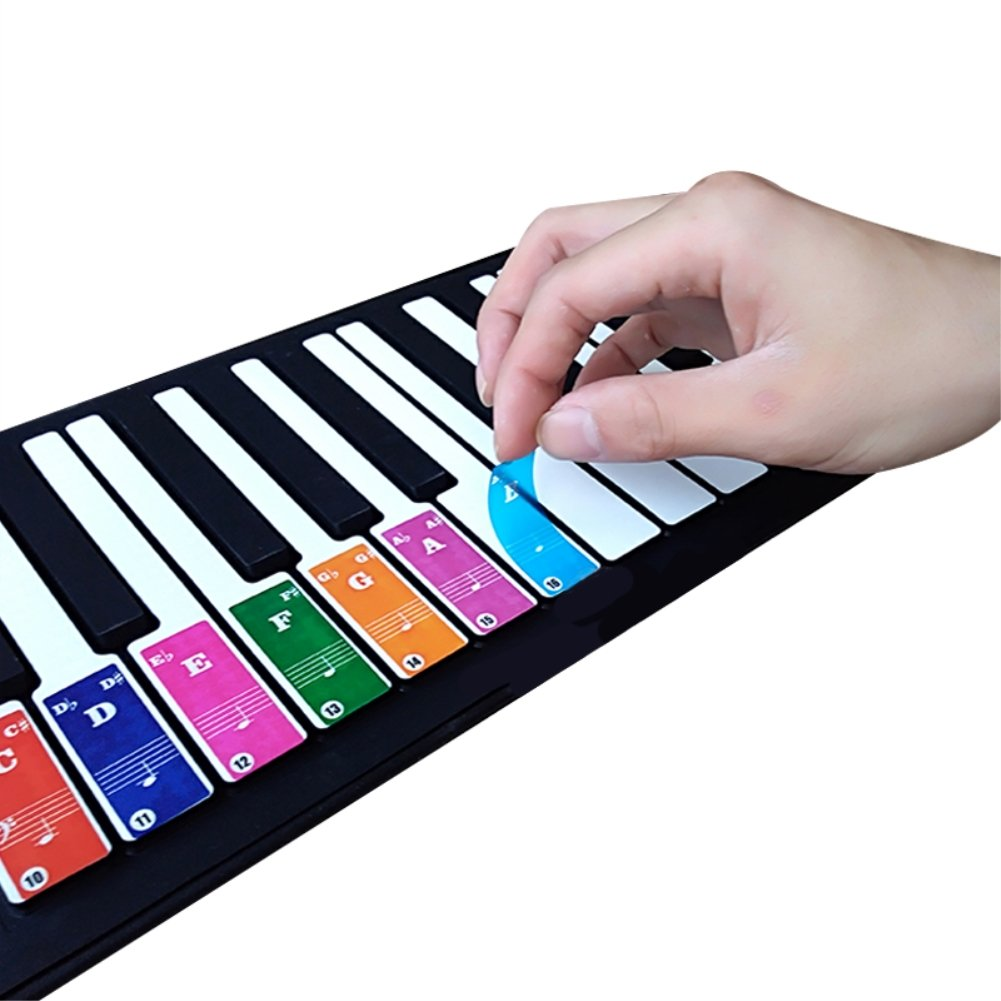 The ONE Smart Piano Keyboard is very helpful for children learning piano - Double Layer Coating for 37/49/61/88 Keyboards (Rainbow color)