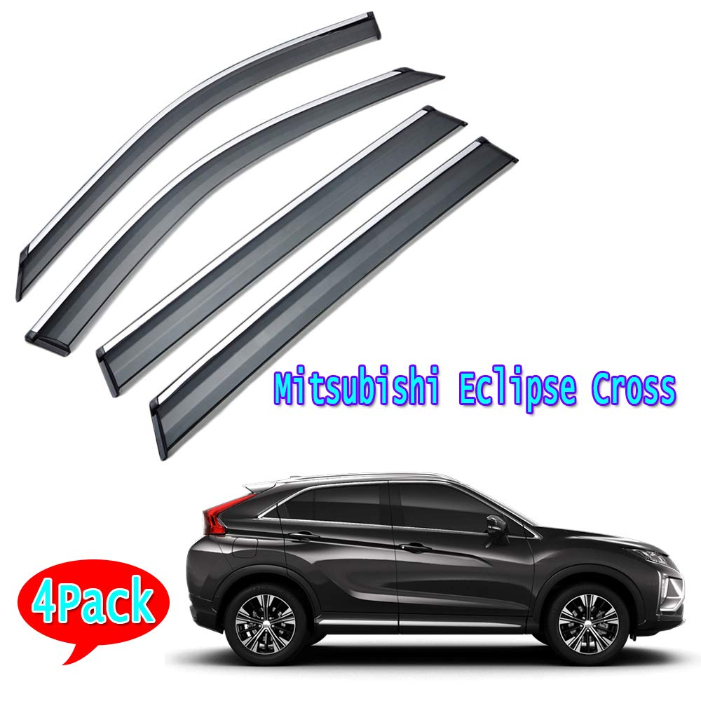 Tende auto per finestrini laterali,Adatto per Mitsubishi Eclipse Cross,Accessori per finestrini laterali auto,Ombreggiatura e prevenzione della pioggia /& Manto nevoso,Acciaio inossidabile 3D 4pezzi