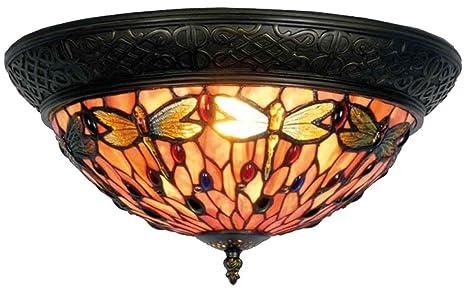 Lampadari E Plafoniere Tiffany : Ll lumilamp plafoniera di vetro lampada da soffitto