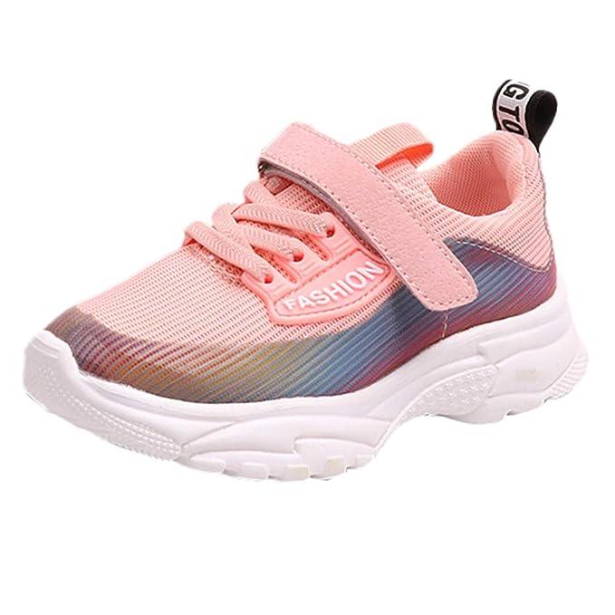 Zapatillas Niño,ZARLLE 3-12 años Niño Niña Zapatos Casual Deportes Zapatillas de malla para Bebe Primeros Pasos Zapatos Zapatillas para Bebés transpirables ...