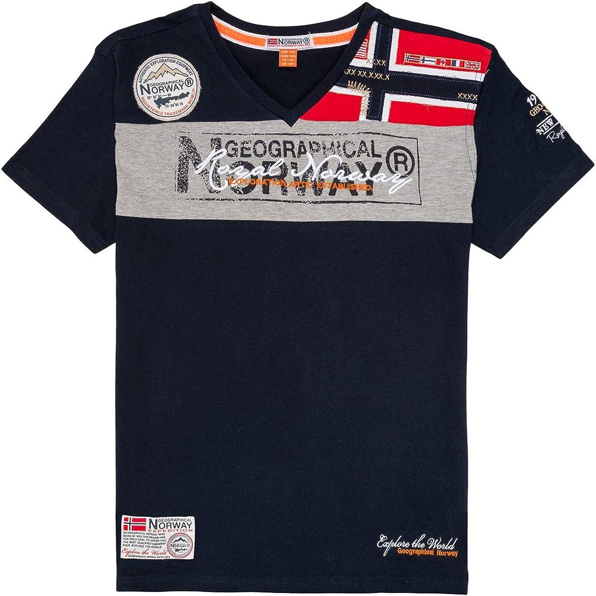 Geographical Norway Herren Royal Polo Shirt Kurzarm T-Shirt V-Neck
