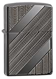 zippo black ice pocket lighter - Zippo Armor Coils Pocket Lighter, Black Ice