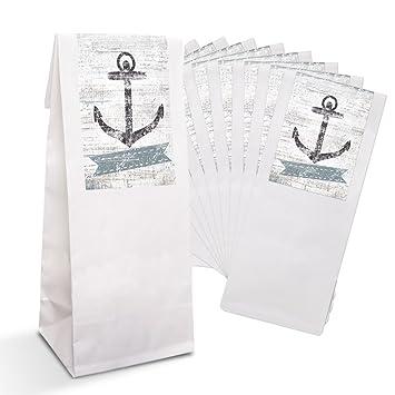 25 pequeñas para bolsas de papel blancas con pergamino y ...