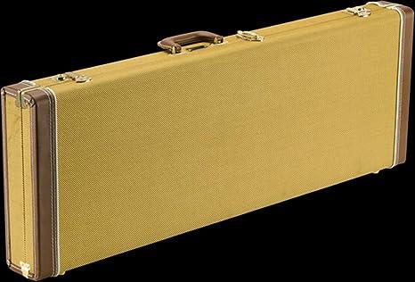 Fender 099-6106-300 Estuche de madera para guitarra clásica - Strat/Tele - Tweed: Amazon.es: Instrumentos musicales