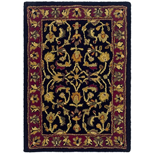 (Safavieh Heritage Collection HG953A Handcrafted Traditional Oriental Black and Red Wool Area Rug (2' x 3'))