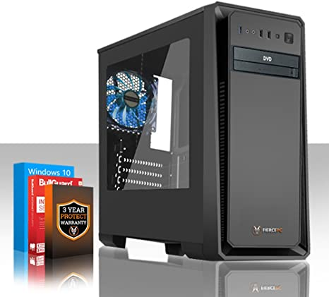Fierce Phoenix Gaming PC – Rápido 4 x 3.4 GHz Quad-Core AMD ryzen 3 1200, 2TB