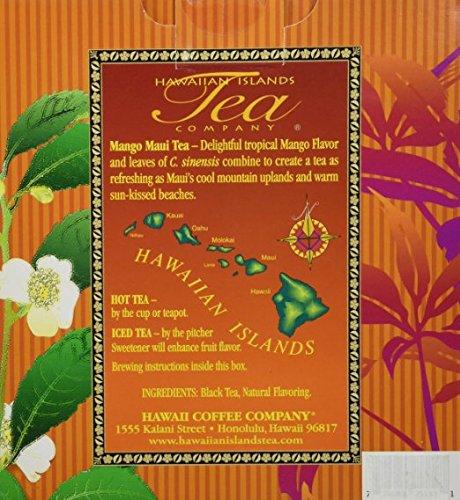 Mango Maui Black Tea (100 Tea Bags, Tropical, Flavored, All Natural) by Hawaiian Islands Tea Company