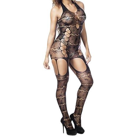 Koly Conjunto de lencería ropa interior ropa interior vestido muñeca cordón mujeres ropa noche vestido Lencería