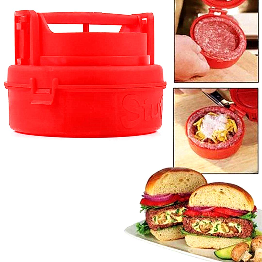 1pc Hamburger Rindfleisch-Burger-Hersteller-Form Gefüllte Burger Press Patty Barbecue Grill Fleisch Grill-Grill Hamburger Patty Presse für Sliders und Regular Burgers Spülmaschinenfest Beito