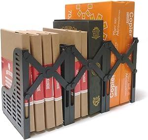 Markmesafe Adjustable Magazine/File Holders Desktop Organizer,3 Sections, Black
