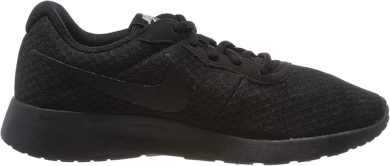 Nike Women's Tanjun Sneakers Black Black Black White
