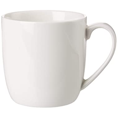 Winnsoma Quattro Porcelain Mugs Set of 4 High Grade Elegant Pure White Euro Style For Coffee Tea Latte Milk