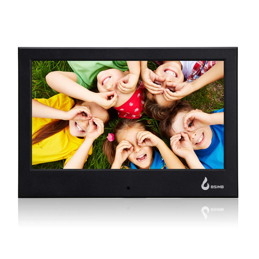 BSIMB Digital Picture Frame 7 Inch 800x480(16:9) Digital Photo Frame Calendar/Time and Auto Turn On/Off Function Support Up to 32GB SD/MMC/SDHC Card (Black) by Bsimb (Image #1)