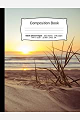 """Beach Composition Notebook, Blank Sketch Paper: Sketchbook Drawing Art Paper, 200 pages, 7.44 x 9.69"""" (Beach Series) Paperback"""