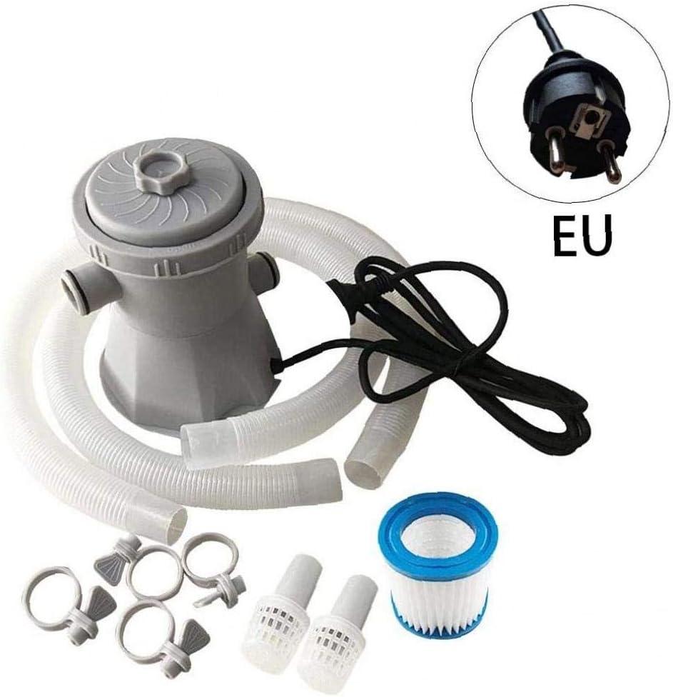 Elektro-Pool Filterpumpe 300 Gallon Above Ground Pools Reinigungswerkzeug Schwimmb/äder Zubeh/ör EU-Stecker