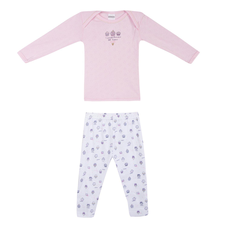 Absorba Underwear Baby-Mädchen Zweiteiliger Schlafanzug 6M69006-RA
